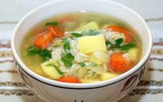 Суп з рисом картоплею і м'ясом — покрокові рецепти з фото, відео