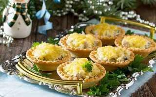 Тарталетки з грибами — рецепти приготування з куркою, сиром, фото, відео