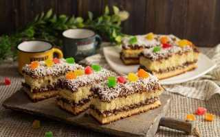 Повітряне бісквітне тістечко з шоколадним кремом. Покроковий рецепт з фото