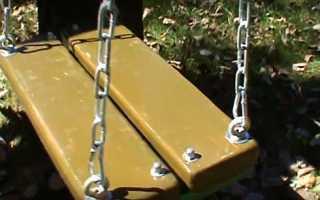 Одномісні гойдалки на ланцюгах — покрокова інструкція, відео