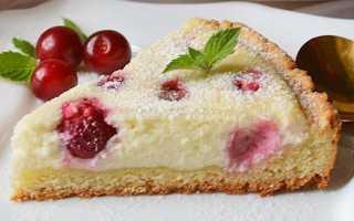 Пиріг з сиром і вишнею швидкий — рецепт приготування, відео