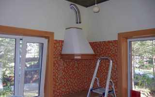 Установка кухонної витяжки над газовою плитою, кріплення, відео