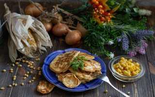 Оладки з кукурудзою і цибулею — справжній домашній фаст-фуд. Покроковий рецепт з фото