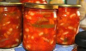 Лечо з квасолею на зиму — рецепти заготовки з морквою, перцем, баклажанами, томатною пастою, відео