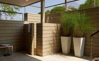 Літній душ на дачі — ідеї дизайну, вибір місця установки, відео