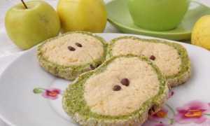 Пісочне печиво «Зелені яблука». Печива у вигляді яблучок. Покроковий рецепт з фото