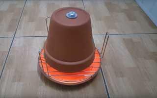 Обігрівач з глиняних горщиків, як зробити самостійно, інструкція з виготовлення, відео