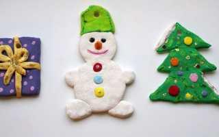 Ялинкові іграшки з солоного тіста своїми руками, майстер-клас, відео