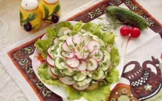Весняний листковий салат. Покроковий рецепт з фото