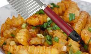 Хвилястий ніж з Китаю для красивої нарізки овочів і фруктів, відео