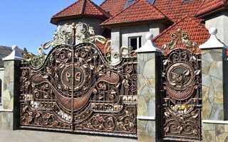 Ковані хвіртки і ворота своїми руками, ескізи, фото, відео