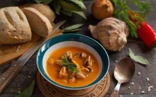 Ніжний крем-суп з мідіями. Покроковий рецепт з фото