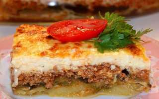 Мусака по-грецьки з баклажанами — рецепти приготування з додаванням картоплі, кабачків, фото, відео