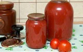 Густий томатний сік на зиму через м'ясорубку