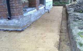 Отмостка з глини навколо будинку своїми руками, як зробити, відео