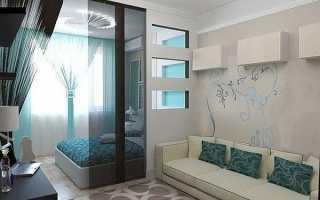 Спальня в вітальні — як відокремити, зонування, поділ, відео