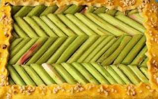 Ревінь — рецепт приготування пирога, відео