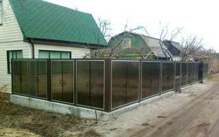 Огорожа з полікарбонату між сусідами на дачі своїми руками, фото, відео
