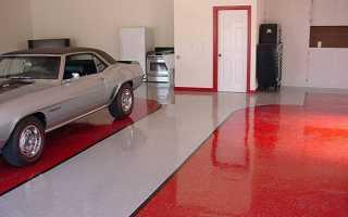 Пол в гаражі — як зробити з бруса, щебеню, тротуарної плитки, відео