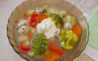 Суп з брокколі і фрикадельками. Покроковий рецепт з фото
