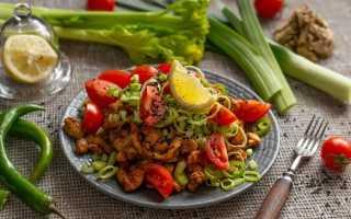 Дієтичний салат з куркою без майонезу. Покроковий рецепт з фото