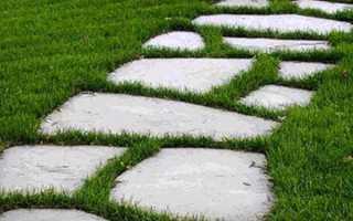 Доріжка крокова газонна — етапи укладання, інструкція, відео