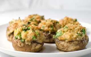 Фаршировані гриби в духовці, рецепти з різними начинками, відео