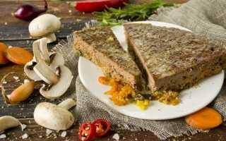 Паштет з яловичої печінки з грибами і овочами в духовці. Покроковий рецепт з фото