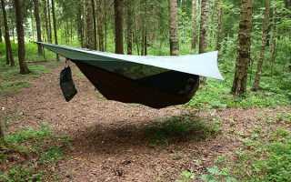 Підвісна гамак-намет для захисту мандрівника в поході, відео