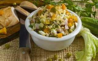 Салат з копченої курячої грудкою і овочами. Покроковий рецепт з фото