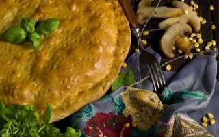 Пиріг з м'ясом і грибами в духовці. Покроковий рецепт з фото