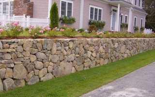 Підпірна стінка на ділянці з ухилом з цегли, бетону, каменів, відео