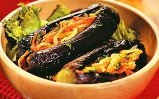 Квашені баклажани фаршировані овочами на зиму — рецепти приготування з морквою, перцем, цибулею, часником і зеленню, відео