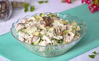 Салат з куркою і грибами — рецепти з додаванням сиру, ананасів, корейської моркви, фото, відео