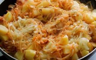 Тушкована капуста з картоплею, м'ясом — покрокові рецепти, відео
